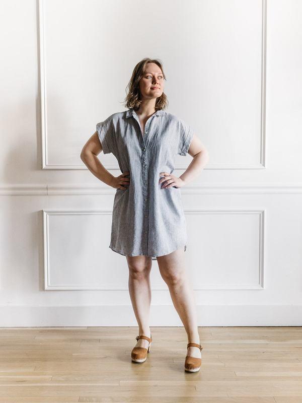 Thread & Supply Crescent Dress - Moonlit Stripe