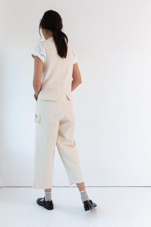 Caron Callahan Tobias Jumpsuit - Cream Canvas