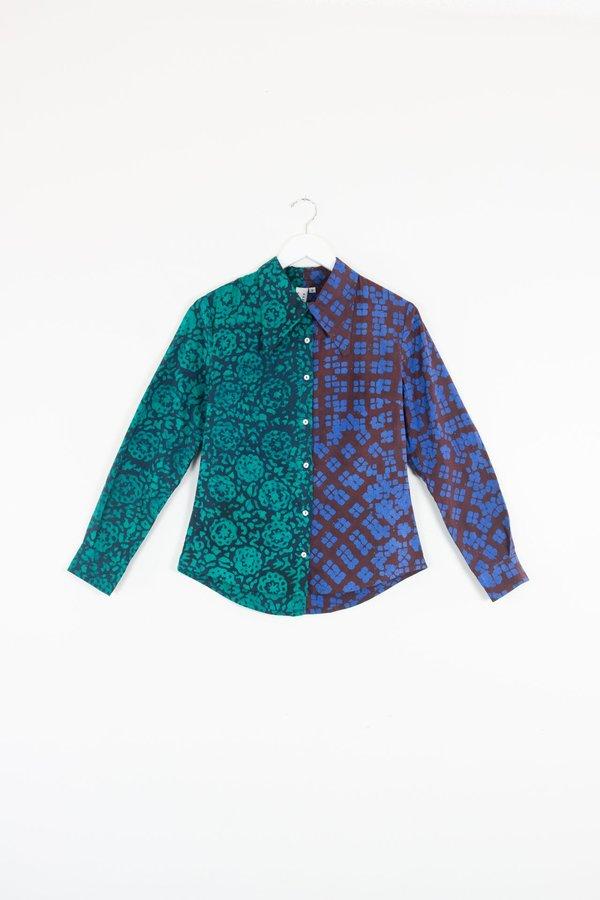 ReRuns Button Up Shirt Shallot Deep Sub