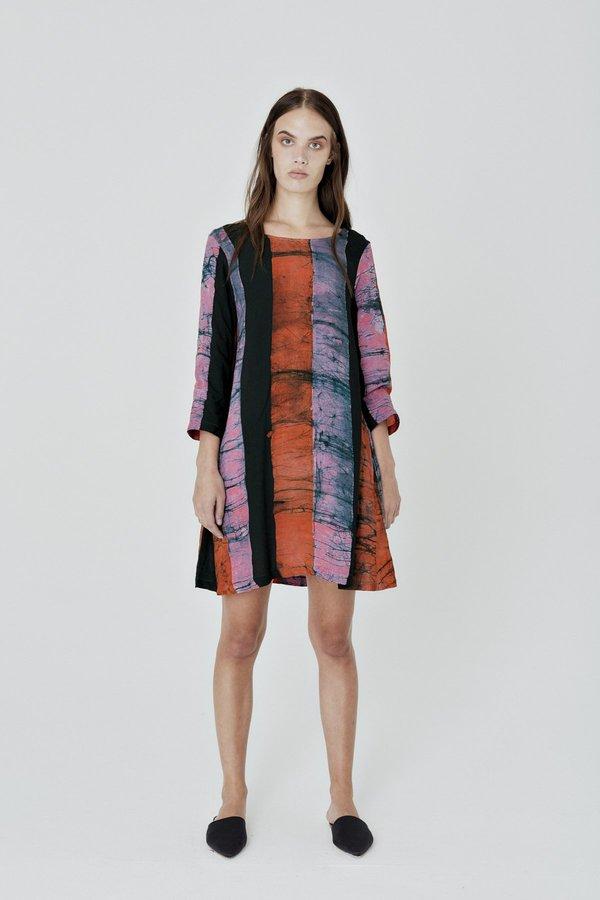 ReRuns Krobo dress in Carmine