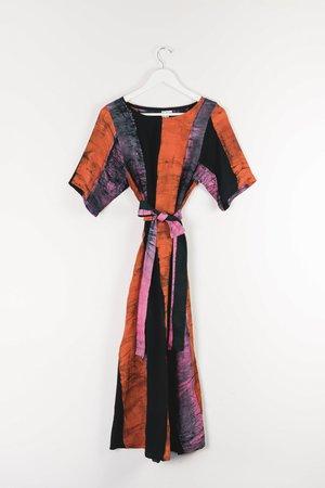 ReRuns Nonna Dress in Carmine