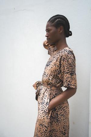 ReRuns Nonna Dress in Snakebite
