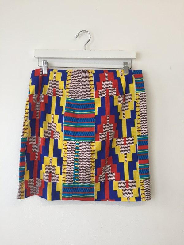 ReRuns Print short skirt