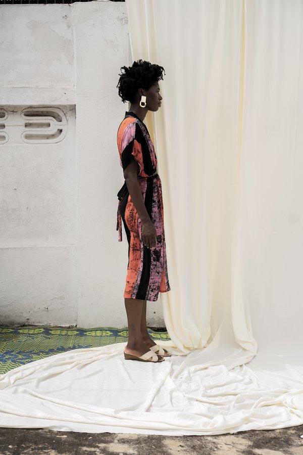 ReRuns Sampa Dress in Carmine