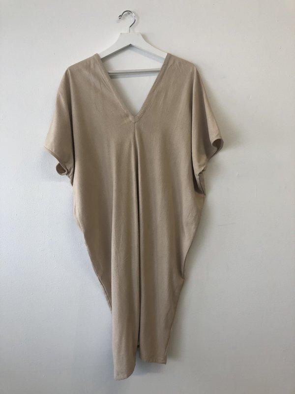 Reruns Sola Dress Botanic Onion Skin