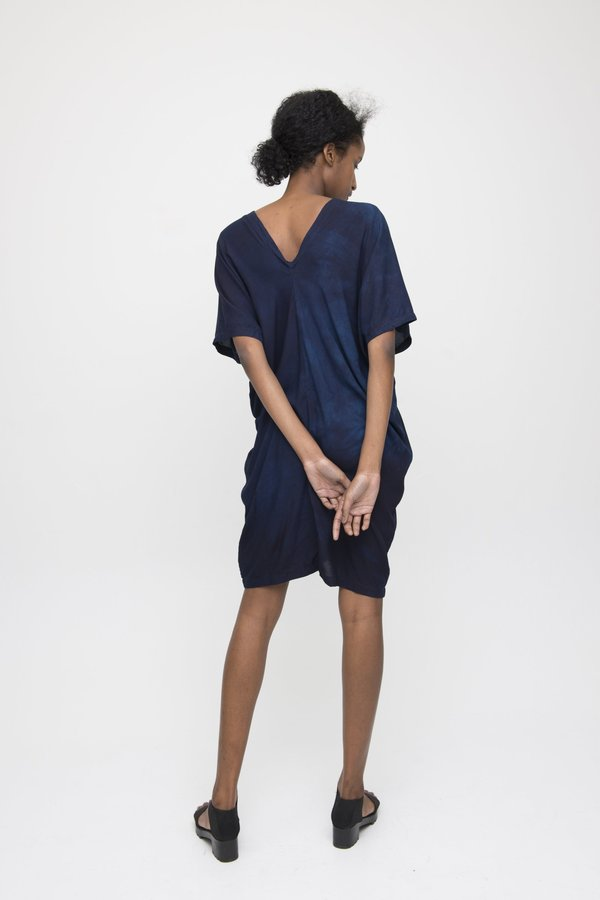 Reruns Sola Dress in Indigo