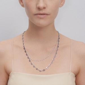Justine Clenquet Alexis Necklace - palladium