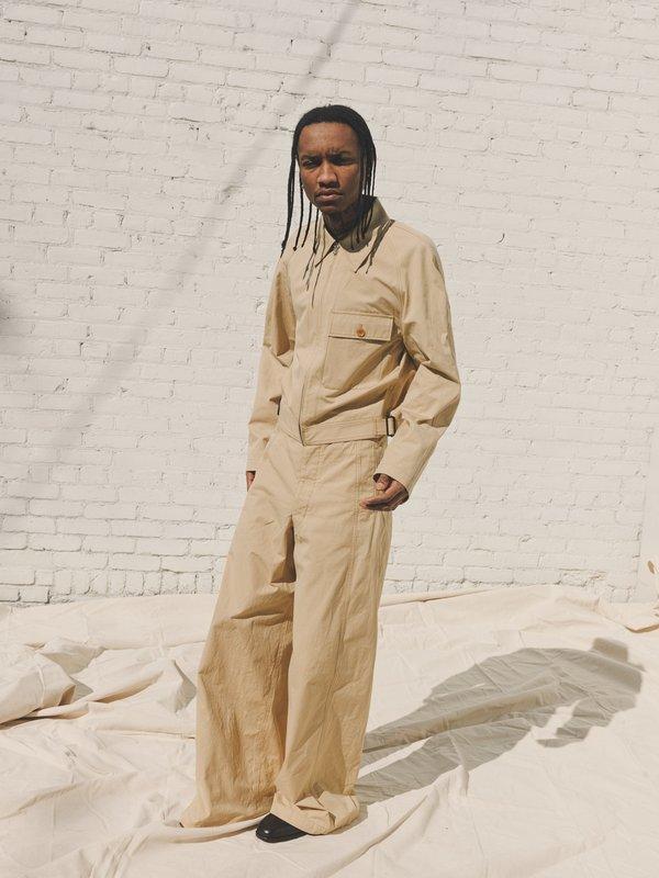 Lemaire Military Blouson Jacket - Seashell Beige