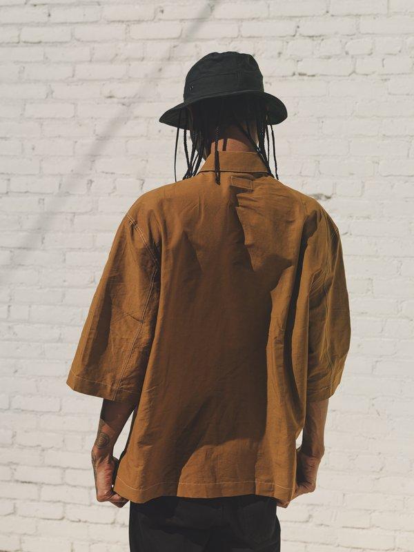 Lemaire Short Sleeve Pyjama Shirt - Tobacco