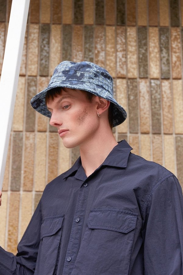 Henrik Vibskov Slow Bucket Hat - Mint Blue