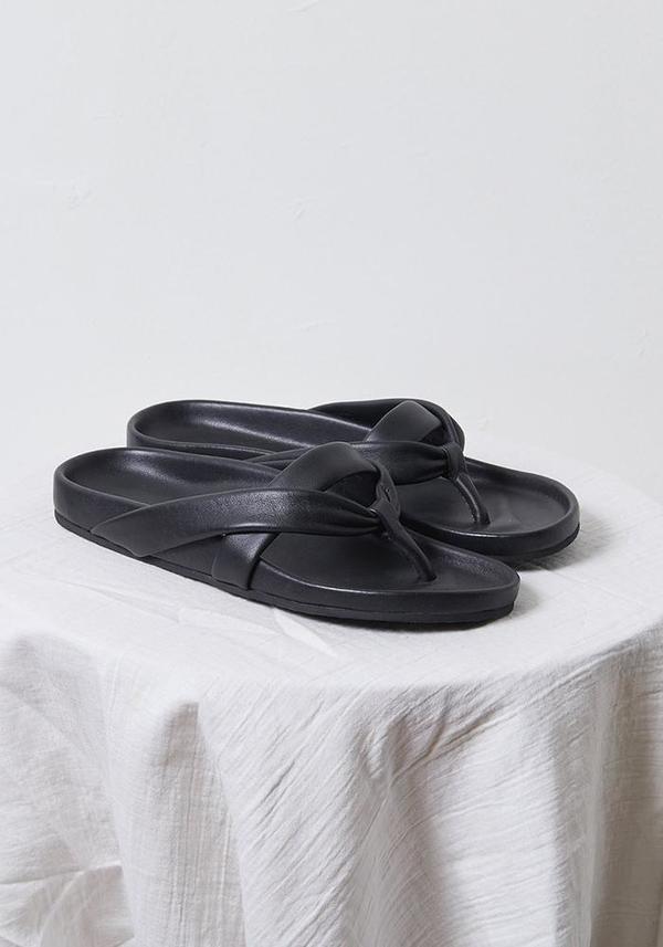 Atelier Delphine Zori Leather Sandal - Black