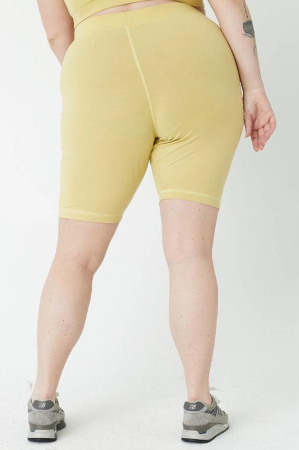 back beat rags Organic Cotton Biker Shorts - Lime