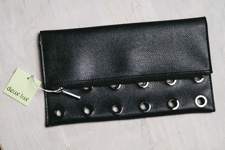 Deux Lux rivet clutch - black
