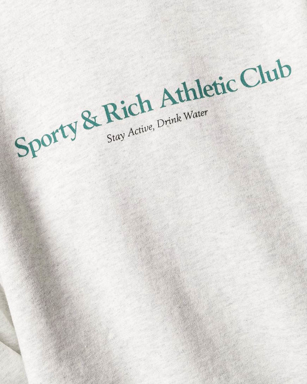 Sporty  - Crewneck Sweatshirt with Logo