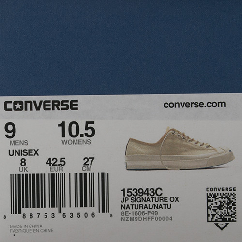 CONVERSE JACK PURCELL SIGNATURE SHIELD CANVAS OX / NATURAL