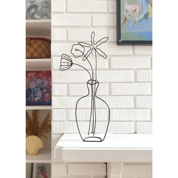 Large Flower Vase Sculpture