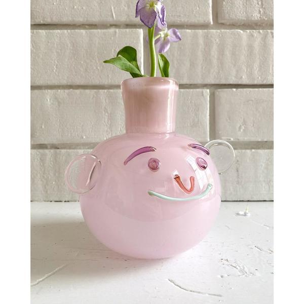 Lilac Bubble Face Vase