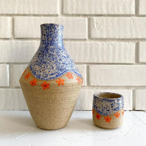 Speckled Daisy Carafe Set