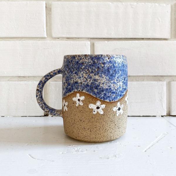 Speckled Daisy Mug - White