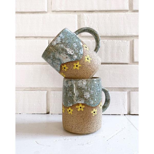 Speckled Daisy Mug - Yellow