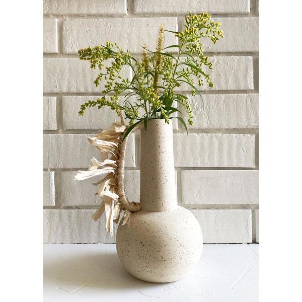 Cóte García Tall Bottle Vase with Silk Handle