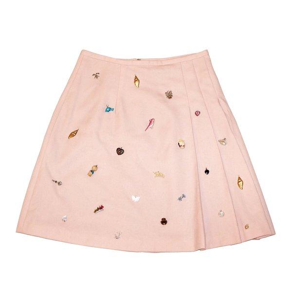 Vintage Charm Wool Skirt