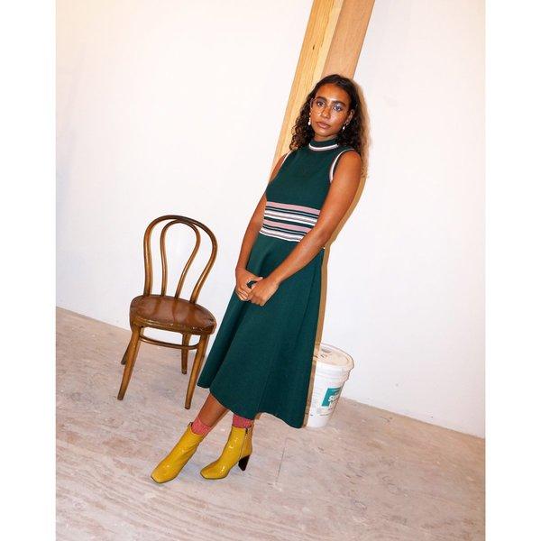 Vintage Hunter Green Knit Dress