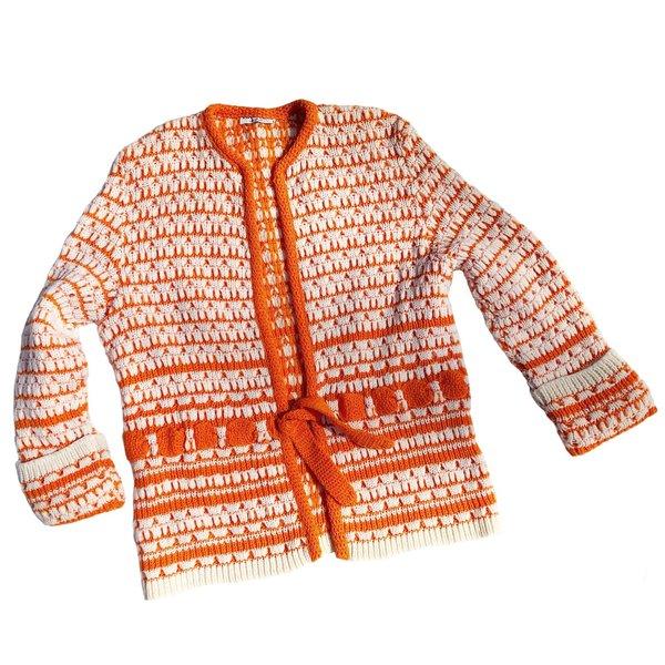Vintage Knit Creamsicle Cardigan