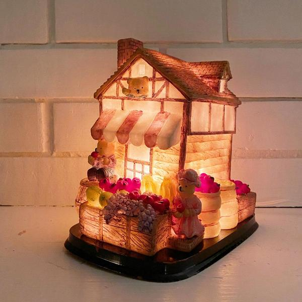 Vintage Market Bears Lamp