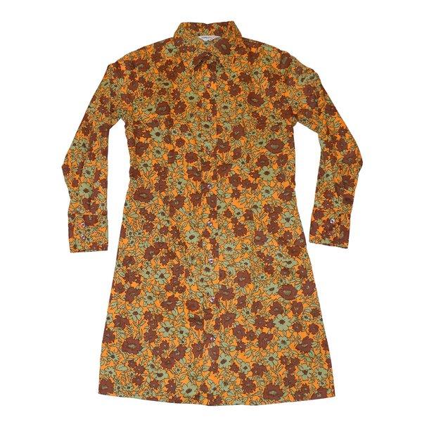 Vintage Retro Floral Shirt Dress