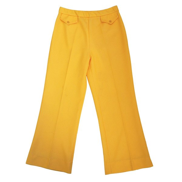 Vintage Yellow Flared Pants