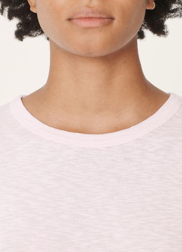 Charlotte Rib Cotton Jersey T-Shirt Pink