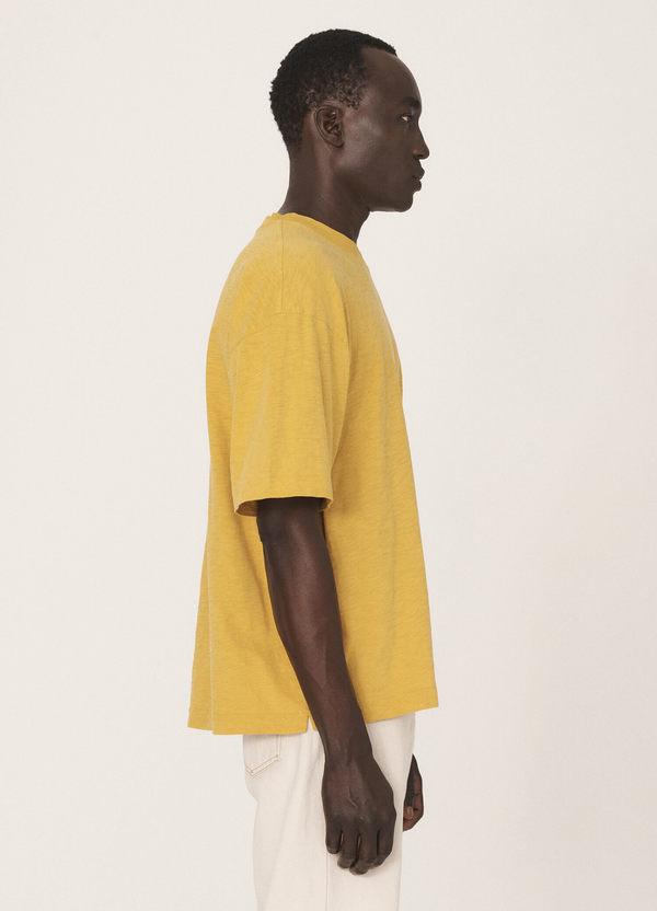 Triple Cotton Slub Jersey T-Shirt Yellow