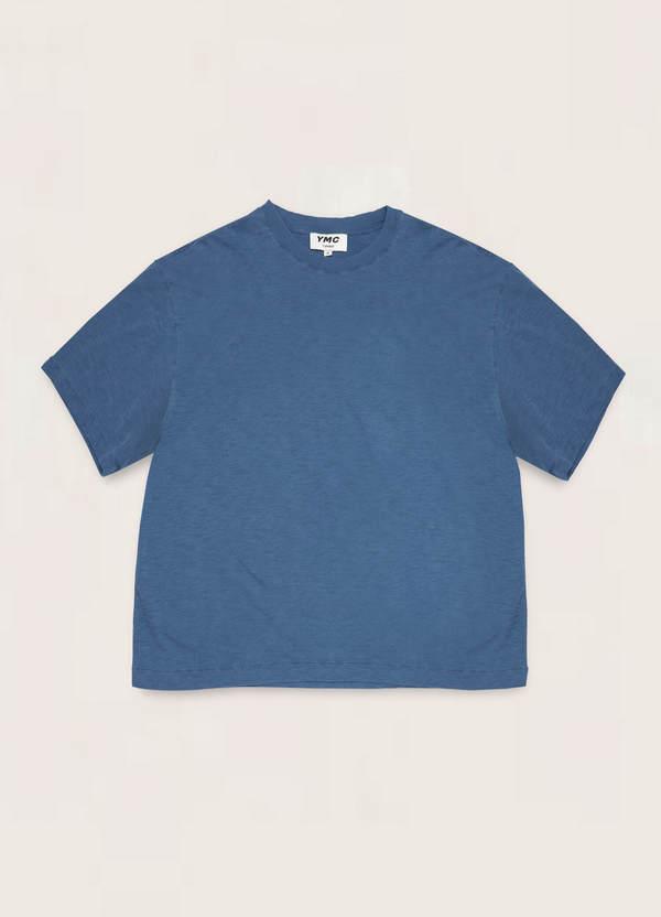 Triple Cotton Slub Jersey T-Shirt Blue