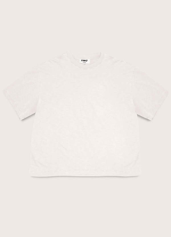 Triple Cotton Slub Jersey T-Shirt Ecru