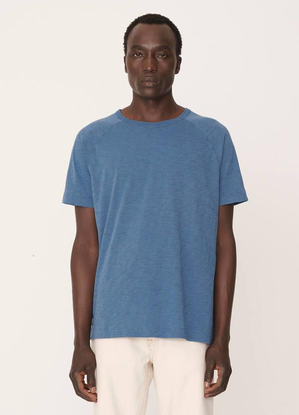 Television Cotton Raglan T-Shirt Blue