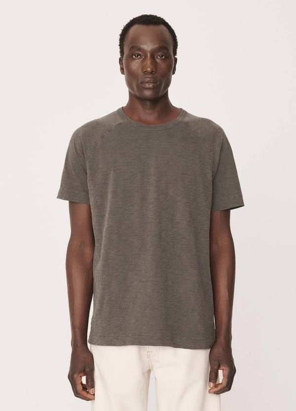 Television Cotton Raglan T-Shirt Washed Dark Olive