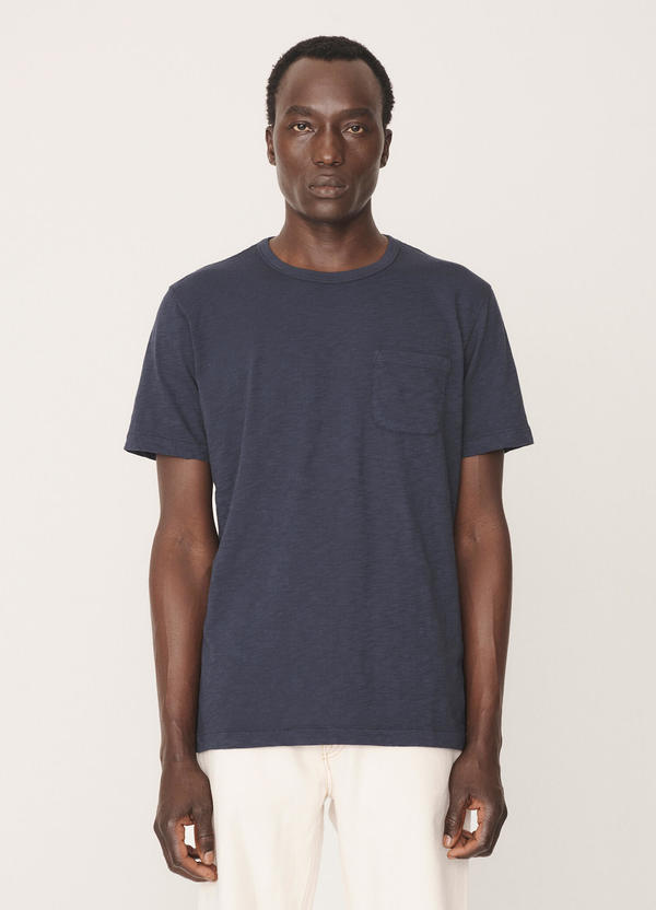 Wild Ones Cotton Slub Jersey T-Shirt Navy