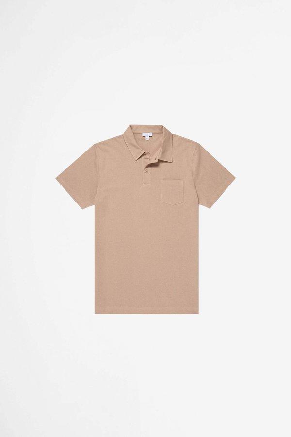 Sunspel Riviera Polo Shirt - Cashew