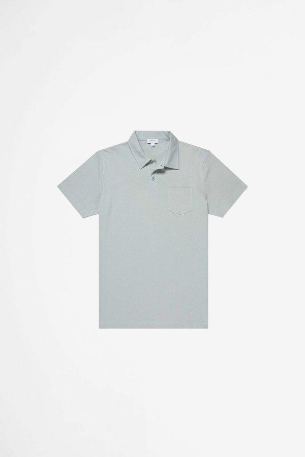 Sunspel Riviera Polo Shirt - Dusky Green