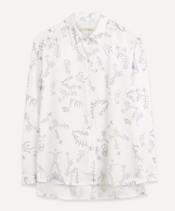 Paloma Wool Bunjin Printed Button Up shirt - Off White