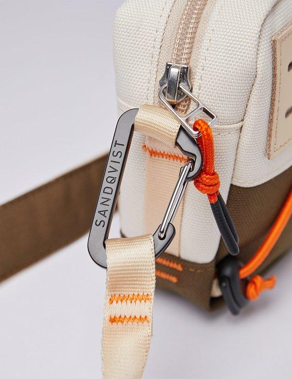 Sandqvist Douglas Shoulder Bag - Sand/Olive/Natural Leather