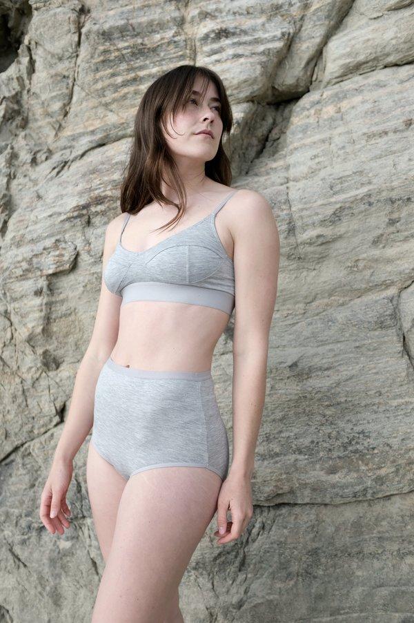 Baserange Soft Bra - Grey Melange