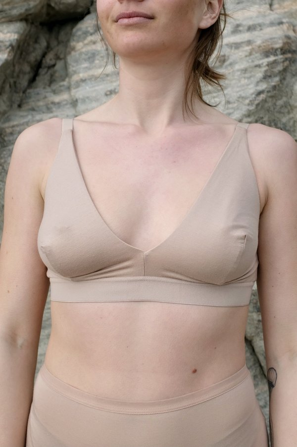 Baserange Triangle Bra - Nude