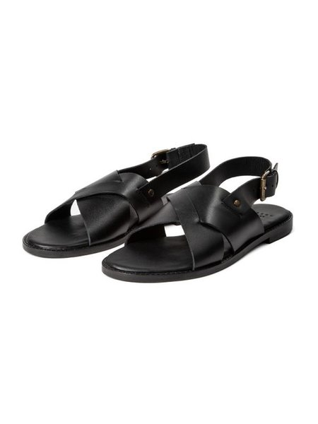 Hudson Nickel Sandal - Black