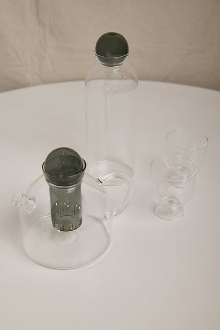 Ferm Living Still Carafe - Clear/Smoke Grey
