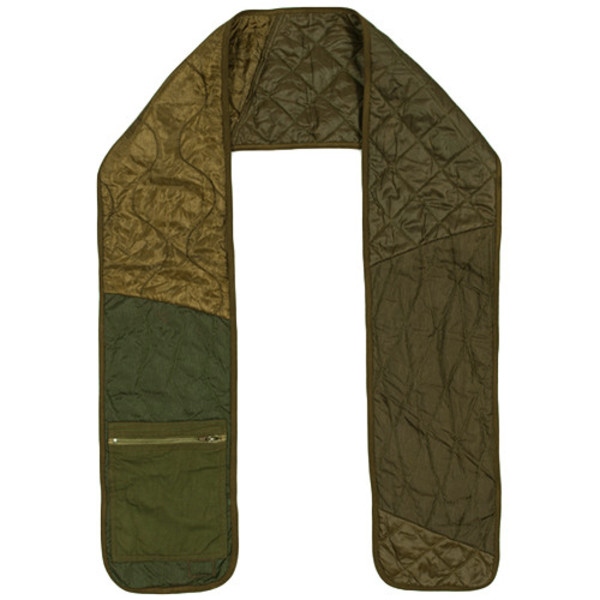 MAHARISHI VINTAGE MILITARY SURPLUS TRIQUILTED SCARF / OLIVE on Garmentory