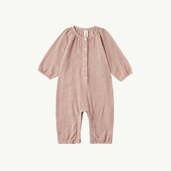 Kids Summer & Storm Long Sleeve Baby Romper - Dusty Peach
