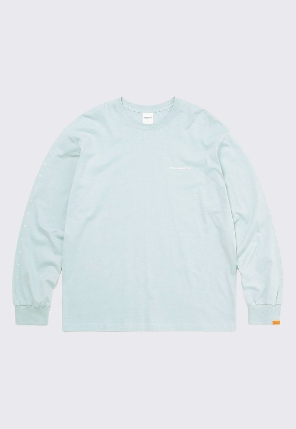 ThisIsNeverThat Intl Logo Long Sleeve tee - pale blue