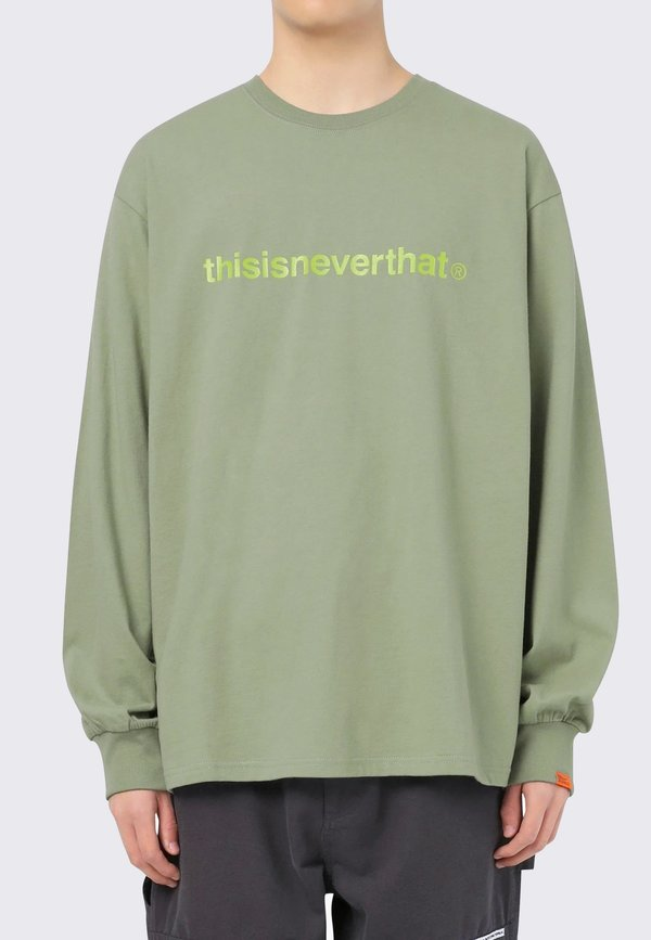 ThisIsNeverThat T-Logo Long Sleeve - light olive